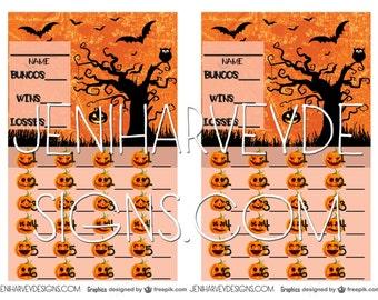 Halloween Bunco Score Cards