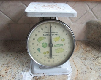 Vintage American Family Scale kitchen food scale fruit and vegetable scale