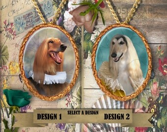 Afghan Hound Jewelry - Pendant - Brooch  – Dog Jewelry -Dog Jewellery – Dog Pendant – Dog Brooch by Nobility Dogs