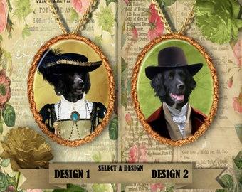 Large Munsterlander Jewelry.Munsterlander Pendant or Brooch.Large Munsterlander Necklace.Large Munsterlander Portrait.Custom Dog Jewelry.