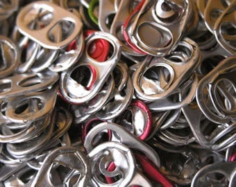 2800 aluminum metal can tabs soda can pull pop top chain mail LARP gift jewelry armor lampshade mixed media art supply industrial salvage