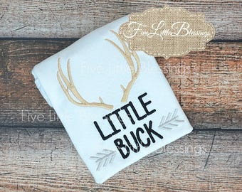 Little Buck - hunting buddy - future hunter - deer hunter - daddy's hunting buddy - 1st birthday - hunting theme - little brother - sister