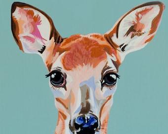 Wild Baby Fawn Deer Print