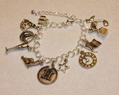 Hamilton Inspired Charm Bracelet Musical Love Music History Alexander Arron Burr Writer