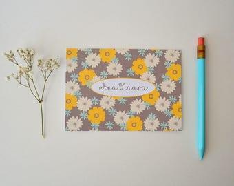 Personalized Note Card Set- Stationary - Custom Stationery - Set of 8