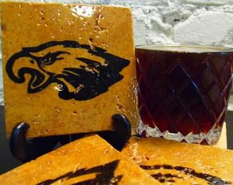 Handmade Stone Sports Coaster - Philadelphia Eagles