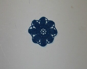 Miniature Handmade Crochet Doily - vinatage