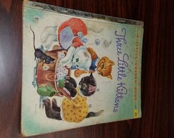 Three Little Kittens ~ Golden Book ,First Edition