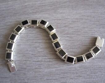 Weiss Sterling Silver and Enamel Bracelet – 1960's