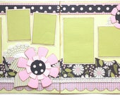 New Baby Floral Premade 2 Page 12x12 Scrapbook Layout