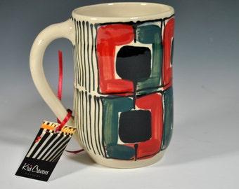 Wheel Thrown Coffee Mug, Tea Mug, Coffee Cup