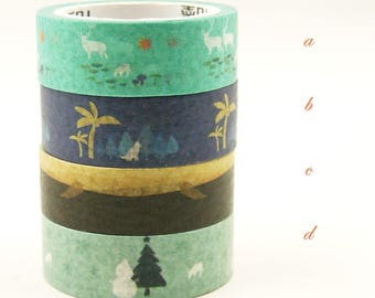 Essence - Japanese Washi Masking Tape - 4 rolls - 7.6 yard (each roll)