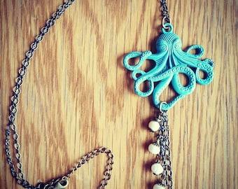 Octopus Fresh Water Pearls Chandelier Necklace