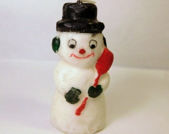 Vintage FROSTY THE SNOWMAN Candle - Christmas Decoration - Holiday Decor - Retro