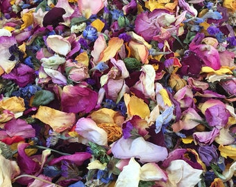 Dried Flower Petals 20 Cups Of Wedding Confetti Colorful Biodegradable Natural lot bulk