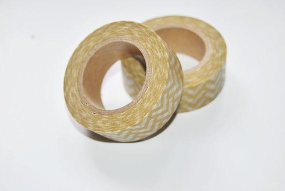 Chevron pattern washi tape. black. kraft brown. Gift Wrap.Scrapbooking. Deco Tape Self-adhesive. Masking Tape. Gift Packing