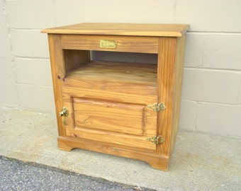 White Clad Icebox TV Stand Cabinet Credenza End Table Nightstand - Storage Cupboard - Ice Box - Simmons Hardware