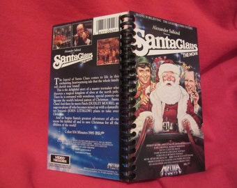 Santa Claus: The Movie VHS box notebook