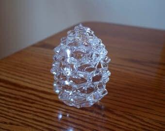 Tiffany and Co. Leaded Crystal Pinecone Trinket Jar