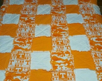 Tennessee Rag Quilt, Free Shipping