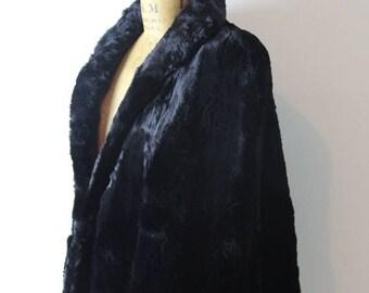 on sale 1940s Black Fur Cape