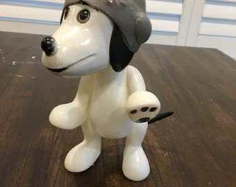 1960s vintage jointed snoopy plastic toy doll dog