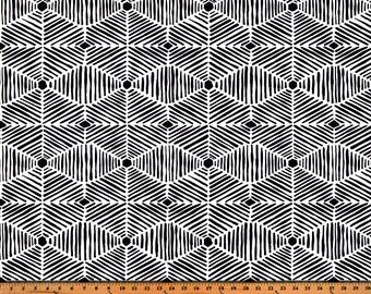 Black White Geometric Diamond Heni Curtains, Rod Pocket  63 72 84 90 96 108 or 120 Long x 24 or 50 Wide