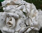 Custom order for kmclaughlin1109 - 20 roses total. 10 sheet music, 10 song lyric roses
