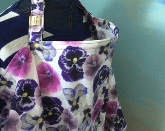 nursing cover breastfeeding cover up apron hider cotton teal purple flowers petals