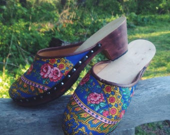 Handmade Portuguese Clogs - As new - Size EUR 38