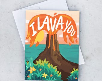 I Lava You! Greeting Card