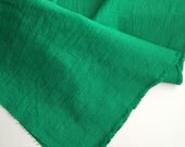 japanese linen blended cotton fabric. washer finish fabric. medium weight fabric. 105cm (41in) wide. sold by 50cm (19in) long. green