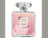 Water Color Coco Chanel Mademoiselle Perfume(8'x10')  Original Art