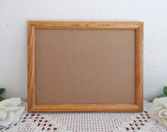 Vintage Solid Wood Diploma Picture Frame 8.5 x 11 Photo Decoration Mid Century Man Cave Country Farmhouse Retro Cottage Home Decor Gift Him