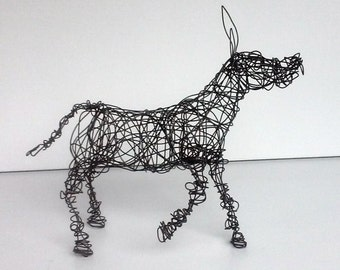 Unique Wire Animal Sculpture - HAPPY BURRO