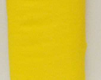 Yellow 20% Merino Wool Felt Blend Fabric By the Yard from Woolhearts