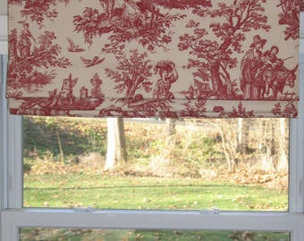 FAUX Roman-Shade/Valance - Up to 30'' wide x 18'' long-idea-for-kitchen-bath-room-play-room-family-room - Pick a Color