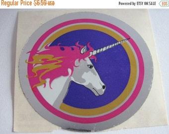 ON SALE Rare Vintage Sandylion Unicorn Mylar Sticker - 80's Foil Scrapbook Reflective Collage
