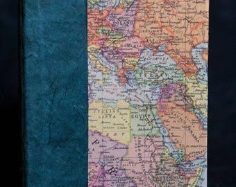 World map journal etsy world map sketchbook travel journal art journal gumiabroncs Gallery