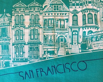 Vintage 90's San Francisco Painted Ladies T-Shirt L