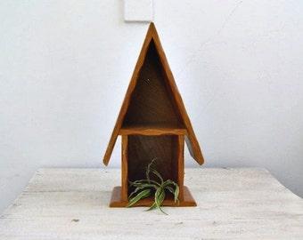 Vintage Wood Shelf Unit House Shape, Rustic Shelving Ideas, Counter Wooden Shelf, Kitchen Decorating Ideas, Wooden Pot Stand, Nursery Decor