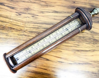 Large Vintage Wooden Stiffel Farenheit Wall Thermometer 1970s, Unique Gift Ideas for Scientist, Medical Present