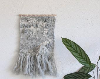 Neutral shades textural weaving handspun handwoven merino gotland wool