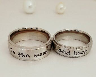 couples wedding bands personalized rings name rings wedding bands promise rings - Couples Wedding Rings