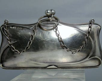 Antique Art Deco Coin Purse 1914 England Sterling Silver Change Purse Hallmarked Very Nice Condition DanPickedMinerals