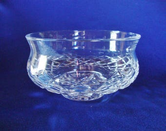 Waterford crystal bowl cut glass Comeragh signed