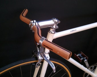 wooden Moustache bicycle handlebar