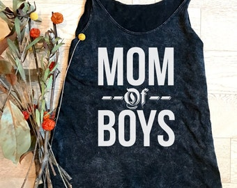 Mom Of Boys. Mom Tank Top. Clothing. Women's Clothing. T-Shirt. Tops & Tees. Mom's Tank. Mom Of Kids.