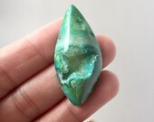 Beautiful Green Drusy Cabochon