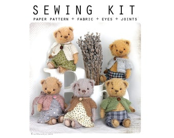 SEWING KIT for sewing toy like Artist Teddy Bear Masha mini 6 inch